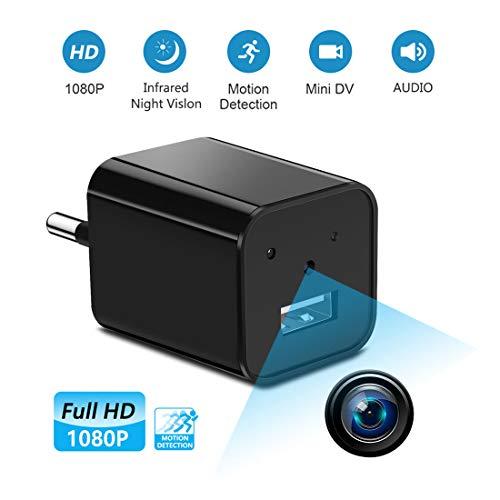 Supoggy Mini telecamera spia nascosta wireless, telecamera HD Nanny Full HD 1080Pe piccola con...
