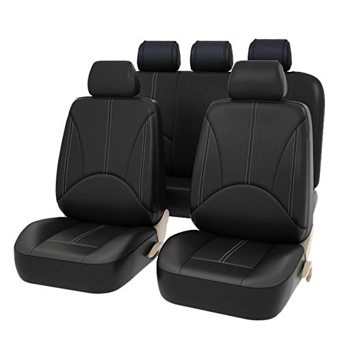 TOOGOO Cuscino Seat Cover in Pelle Sedile 9 Pz Auto Universale