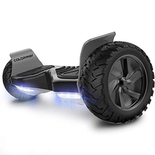 COLORWAY Hoverboard Tout Terrain Gyropode 8,5pouces 2 x 350W Smart Scooter Auto-équilibrage avec Réglages App (Noir)