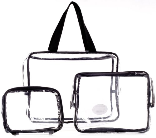 Danielle Creations - Set di astucci porta-trucchi CLEAR/BLACK