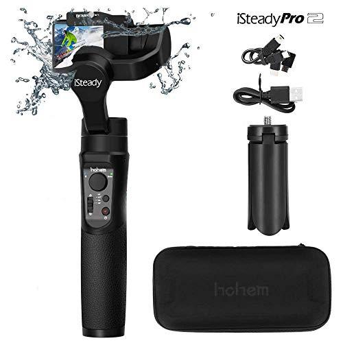 Hohem iSteady Pro 2 3-Axis Handheld Gimbal Stabilizer, a prova di spruzzi d'acqua e design smussato Aggiornato nel 2019, adatto per DJI Osmo Action, Gopro Hero 7/6/5/4/3, Sony RXO, SJCAM, YI Cam