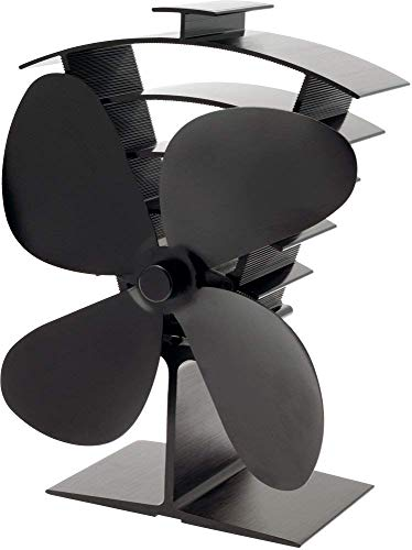 Able to activate at a low temperature of only 50°C, this stove fan is perfect for flat-topped stoves but there is also a flue attached model available too. This model has received over 1300 reviews on Amazon alone which is way more compared to the others which further confirms our own conclusion. It features overheating protection and you can be sure it meets European standards thanks to its CE certification which is something to look out for. Accompanied by a 24 month warranty this gives you peace of mind and some reassurance. Where this model really stands out from most other models comes down to the overall build quality, it's far superior to most other models models and produces more airflow than most other models.