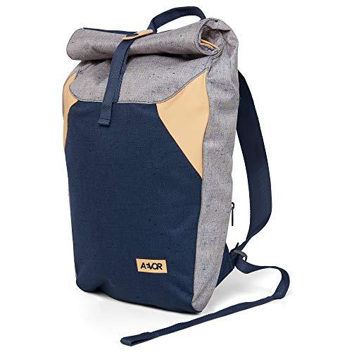 AEVOR Rolltop Rucksack - wasserabweisend, erweiterbar 14 bis 18 Liter, gepolsterter Rücken, Bichrome Peach