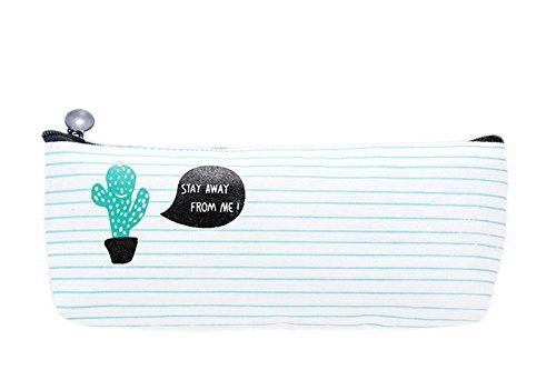 Leisial Tela Cactus Pattern Cartone Animato Astuccio Cassa di Matita Per Cancelleria