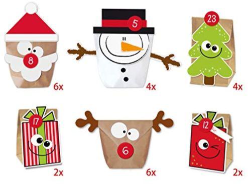 KuschelICH-DIY-Adventskalender-Set-Mix-zum-Befllen-Weihnachtskalender-selber-Machen-ohne-Schere-alle-Teile-gestanzt-wiederverwendbar