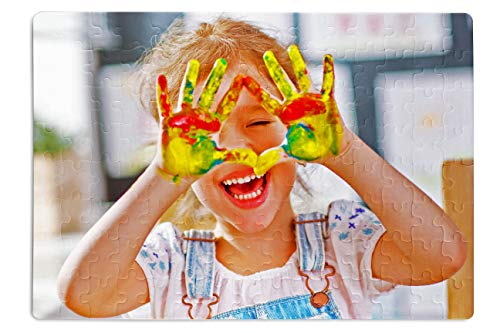 Puzzle con foto, regalo personalizzabile con foto, foto puzzle qualità premium, 120 pezzi, 290 x...