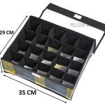 Yellow WeavesTM Undergarments Organizer/Foldable Storage Box with Lid for Drawers, Color - Multi 17