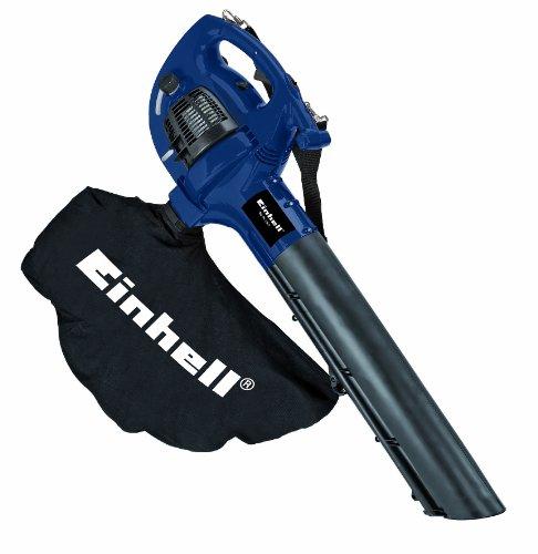 Einhell BG-PL 26/1 - Aspirador-soplador de hojas a gasolina, 8000 rpm, 55 l, 0.65 kW, color negro y azul