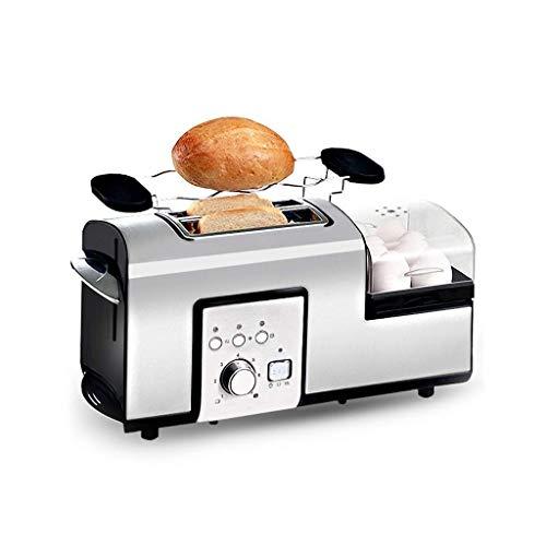 FMIYF Spit Driver 2 fetta pane Tostapane multifunzione compatto Tostapane domestica Cucina Colazione...