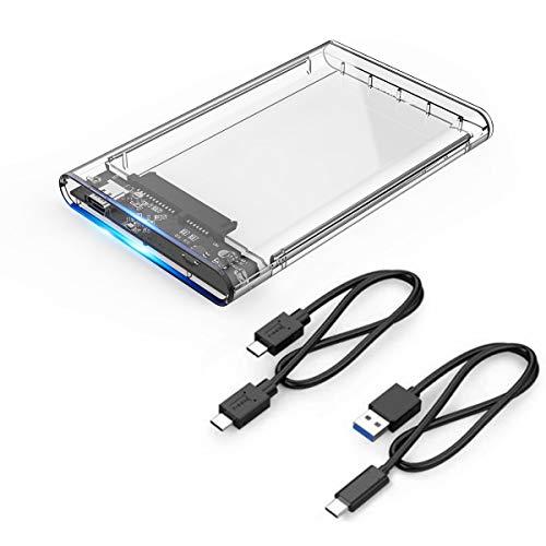 Orico USB 3.1 Gen 2 10Gbps USB-C Hard Drive Box per 2.5 pollici SATA III HDD/SSD - Altezza fino a...
