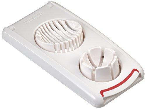 Leifheit Eierschneider Combi mit 3 Funktionen, Champignonschneider schneidet sauber & exakt, Küchenhelfer zum Schneiden von Eiern, Pellkartoffeln etc.