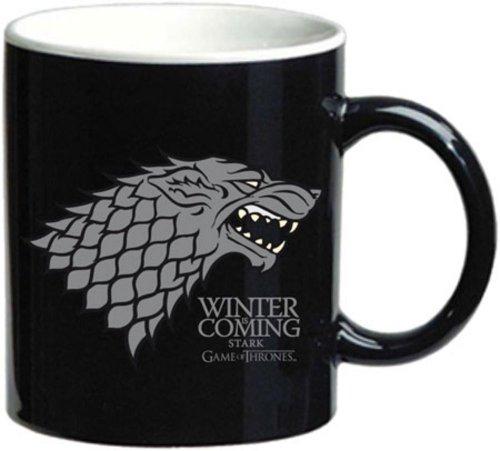 SDTHBO02063 - Taza Juego de Tronos Stark Se acerca el invierno Cerámica negra