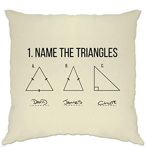 divertente Math Fodera Per Cuscino Nome Il Triangoli esame risposta Natural One Size