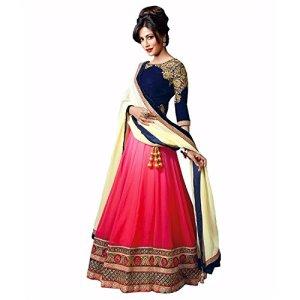 69ddaaf481 ... Globalia Creation Women s Fashion Georgette and Net Lehenga Choli  (93089 Multi-Coloured) ...