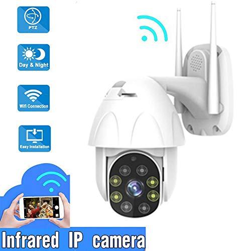 Telecamera di sicurezza wireless WiFi Indoor Outdoor, 1080P, IP66, Visione notturna, Audio a 2 vie, Allarme rilevamento del movimento IP Telecamera intelligente a distanza