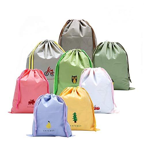 8 PCS ragazze scarpe bagagli coulisse Borse per Travel, fumetto di viaggio Essential Borse-a-Bag...