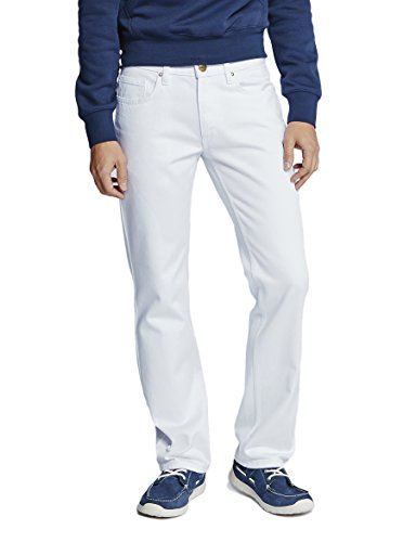 Oklahoma Jeans Herren R140 Straight Jeans, Weiß (White 007), W38/L32