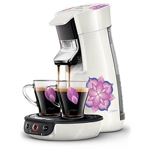 Philips HD6569/12 Machine à Café à Dosettes SENSEO Viva Café Blanche by Sasu + 2 Tasses Incluses
