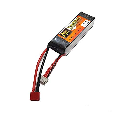 Techleads 11.1 V, 25 C, 2200 mAh, Lipo Battery Rechargeable Power Supply for RC Cars and Quadcopter RC-A-363