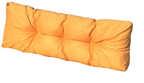 Cuscino Spalliera per Bancale 120x42x10-18 cm - Cuscini per Schienale Divano pallet di legno -...