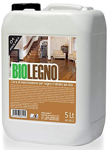 PROLINEA BIOLEGNO - Cera di Manutenzione per Legno trattato ad Olio (5LT)