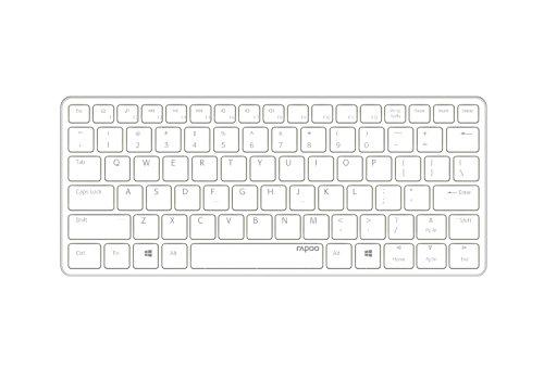 E6350 - Bluetooth Ultra-slim Keyboard weiss-silber