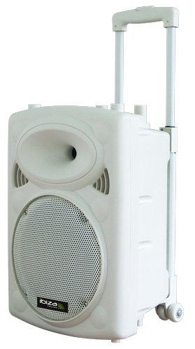Ibiza Sound PORT10VHF-BT-WH - Megafonía portátil, 97dB, batería 12V 4.5Ah, 370x360x525mm, color blanco