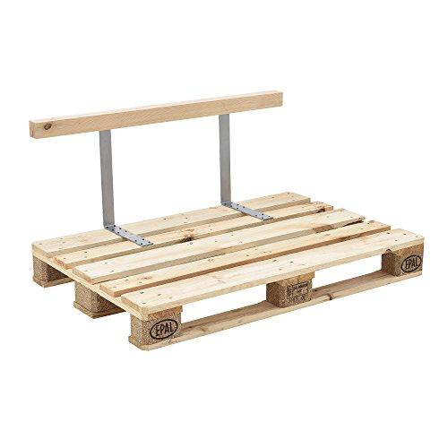 [en.casa] Schienale per divano paletta euro-sofá ottica legno massello DIY mobili