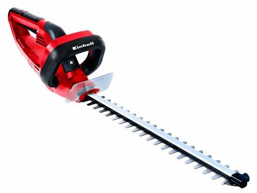 Einhell Elektro-Heckenschere GH-EH 4245 (420W, 450mm Schnittlänge, 12mm Schnittstärke, Metallgetriebe, Alu-Messerabdeckung, Handschutz, Schwertschutz)