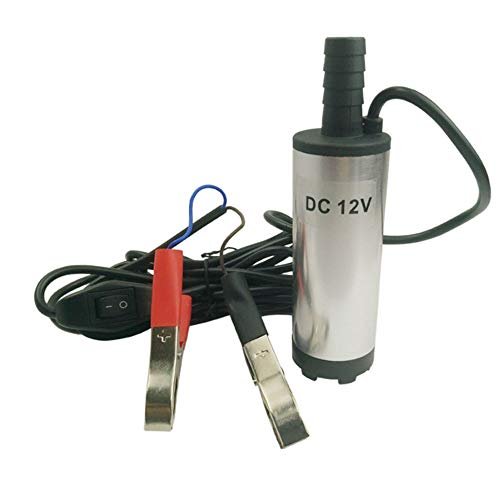 GNSDA Mini Bomba de Acero Inoxidable eléctrica 0.8 LB DC12V 38mm DC Motor Bomba de Agua Puede extraer keroseno Motor Aceite Diesel Transporte Transporte generador Inicio