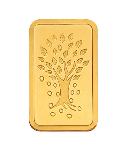 Kundan 5 gm, 24k(999.9) Yellow Gold Kalpataru Tree Precious Coin