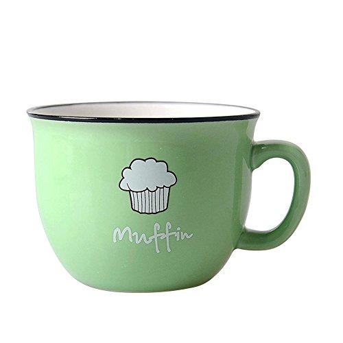 HwaGui Personalizzato Tazza di Ceramica caffè Latte zuppa Muffin Tazza lavastoviglie sicura, Verde,...
