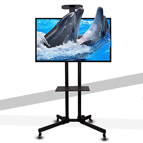 TV da Pavimento con Ruote Carrello Staffa Porta Mobile Stand Orientabile Carrello Porta TV Mobile TV...