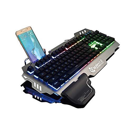 HM2 Metall-Tastatur, mechanische Gaming-Tastatur, RGB-Hintergrundbeleuchtung, verkabelt, mit transparentem Schalter, mechanisch, Similar, ergonomische Tastatur