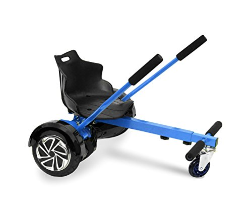 Mediawave Store Sediolino Adattabile per Hoverboard Regolabile da 6,5 a 10 Pollici Go-Kart. (Blu)