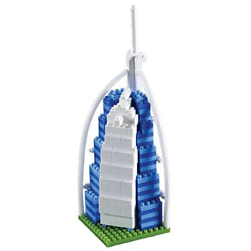 Brixies 410044 - Burj Alarab, 3D-Puzzle, World Famous Buildings Edition, 355 Teile, Schwierigkeitsstufe 3, schwer, Mehrfarbig