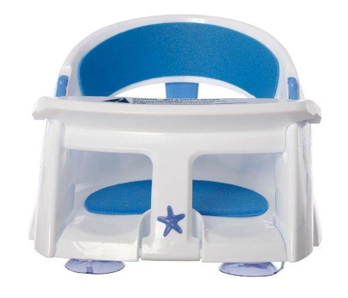 Dreambaby F661 Gepolsterter Baby-Badesitz Badewannensitz Badewanneneinsatz Babysitz, Premium blau mit Temperatursensor