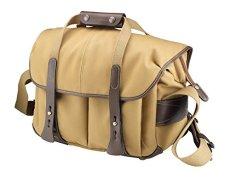 Billingham 307 - Bolsa de fibernyte con bordes de cuero para cámara réflex, color caqui