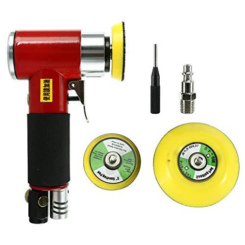 FreeTec Exzenterschleifer Druckluft Winkelschleifer Mini Polierer Schleifmaschine mit 50mm und 75mm Schleifteller