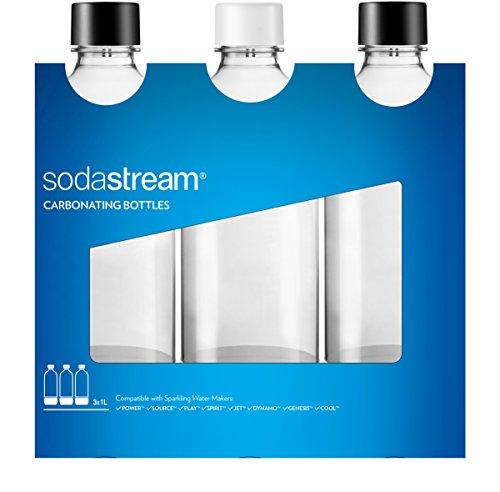 SodaStream 3 Bottiglie Universali per gasatore d'acqua, Capienza 1 Litro, Compatibili con modelli...