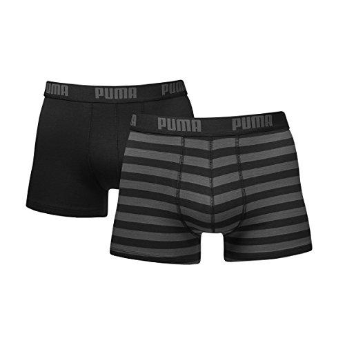Puma Bodywear Stripe 15 - Bóxer para hombre (pack de 2), Negro, XL