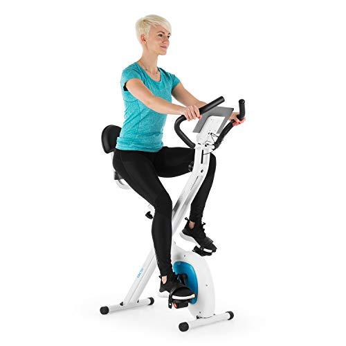 Klarfit X-BIKE-700 Ergomètre Home-trainer Vélo Fitness Vélo cardio Ordinateur d'entraînement Pulsomètre intégré 8 niveaux de résistance réglables Selle ergonomique Noir-orange
