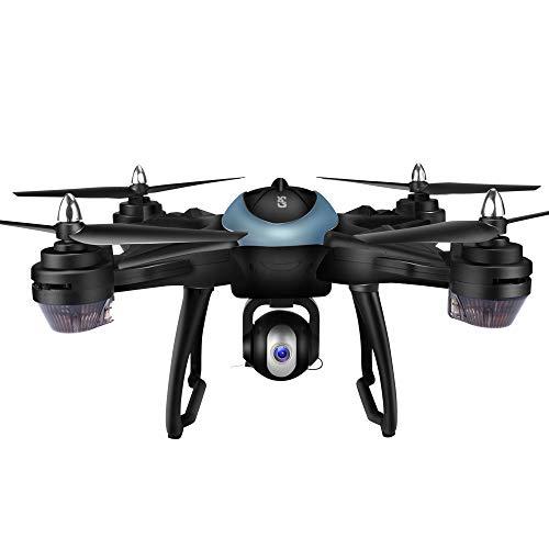 Yesmile Drone Quadcopter GPS Telecamera 1080P HD Drone Professionale T25 GPS con Grandangolare Regolabile Camera HD WiFi FPV Quadricottero Funzione Seguimi modalità Senza Testa Yesmile