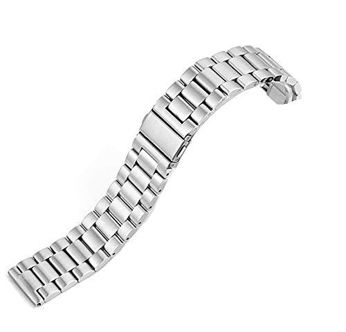 @ccessory Cinturino Compatibile con Fossil Gen 4 Q Explorist HR 3, 22mm Acciaio Inossidabile Sgancio Rapido Metallo Orologio per Fossil Gen 5 Carlyle Smartwatch (Argento)