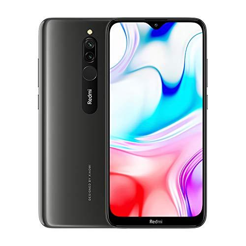 Xiaomi Redmi 8 Teléfono 3GB RAM + 32GB ROM, Pantalla de Caída de Puntos de 6.22', Procesador Snapdragon 439 Octa-Core, Cámara Frontal Dual de 8MP y Cámara Trasera Dual AI de 12MP + 2MP (Negro)