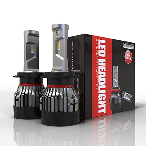 Lampadine H7 LED 10000LM, Fari Abbaglianti o Fendinebbia per Auto, Kit Lampada Sostituzione per...