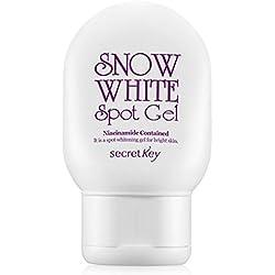 Secret Key - Snow White Spot Gel - Aufhellungsgel für Gesicht und Körper mit Aloe Vera und Portulak Extrakt gegen dunkle Flecken, Altersflecken und Hautpartien für Frauen und Männer - Bleaching Gel - Bodygel für Damen und Herren - Gesichtsmasken & Gesichtskuren - Tagespflege - Hautpflege