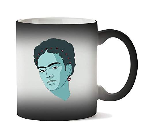 1GD Frida Kahlo Woman Taza Calor Cambio De Color