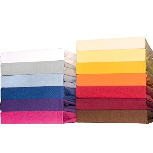 CelinaTex Lucina for Kids Baby Spannbettlaken 2er-Set 60x120 - 70x140 aqua blau Jersey Baumwolle Spannbetttuch Doppelpack Kinder Matratze 0004505