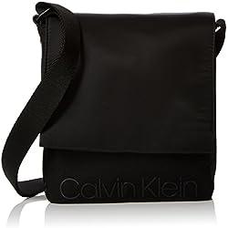 Calvin Klein Jeans - Shadow Reporter With Flap, Shoppers y bolsos de hombro Hombre, Negro (Black), 5x22x19 cm (B x H T)